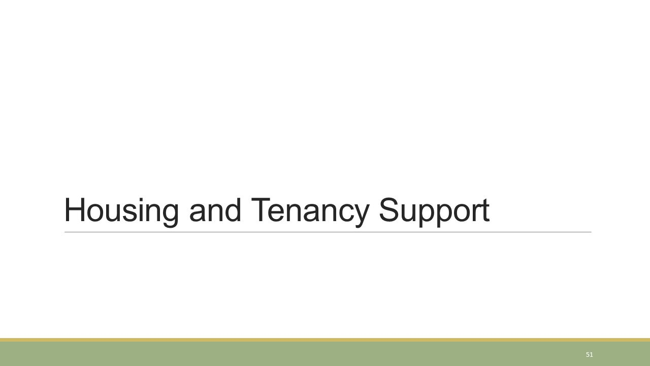 Housing and Tenancy Support