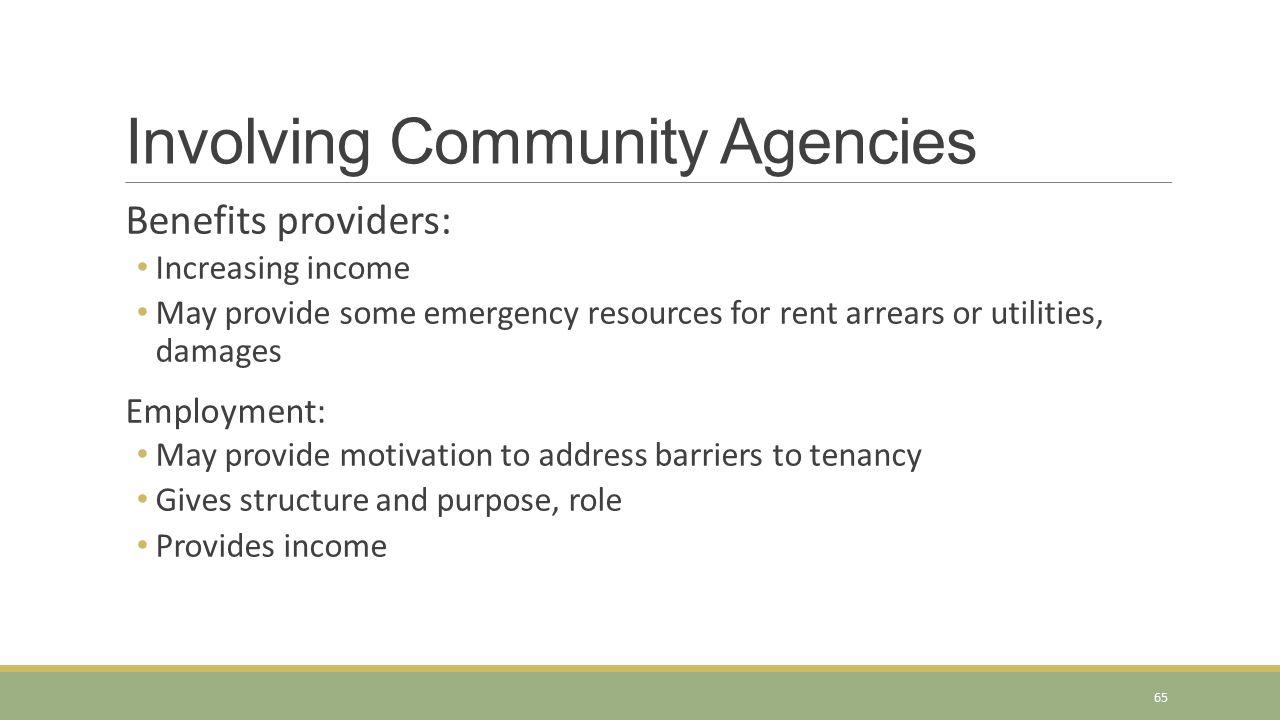 Involving Community Agencies