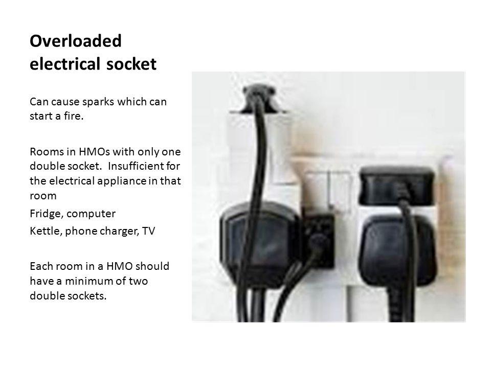Overloaded electrical socket