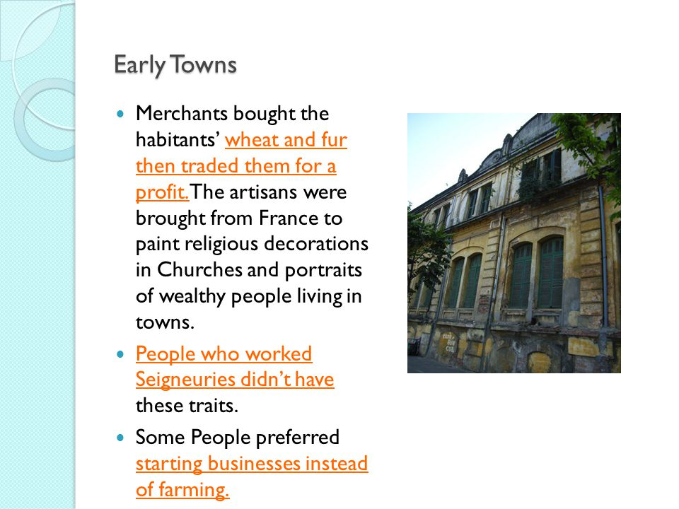 Early Towns
