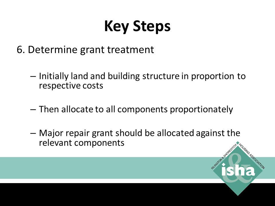 Key Steps 6. Determine grant treatment