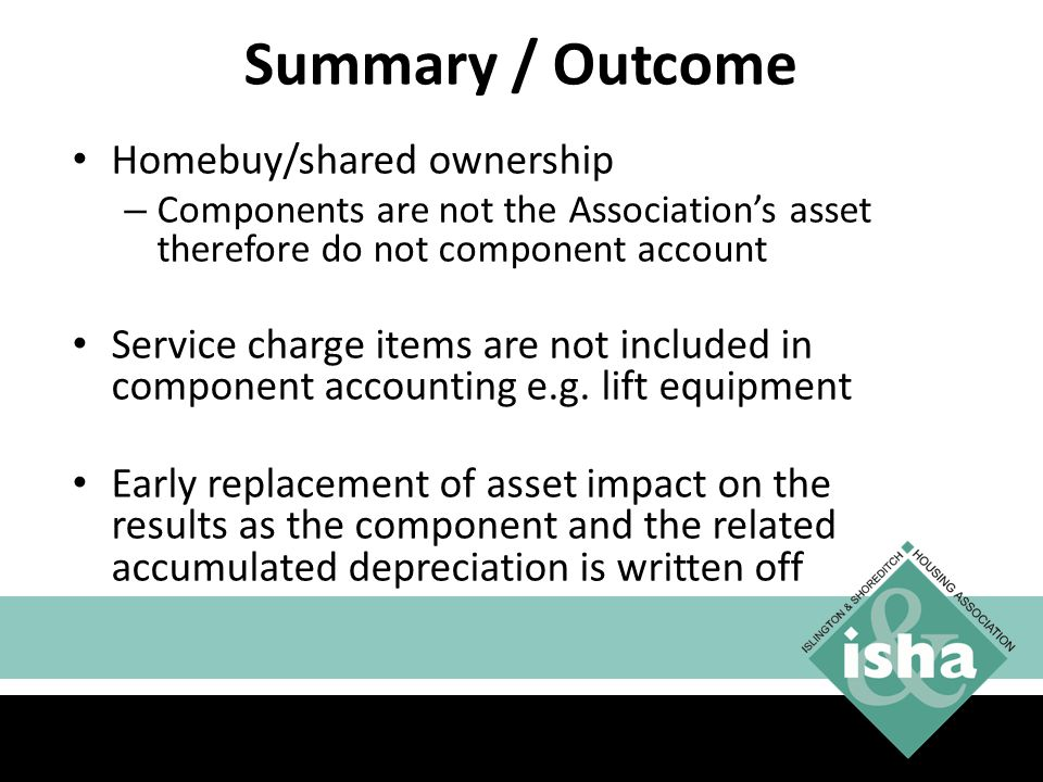 Summary / Outcome Homebuy/shared ownership