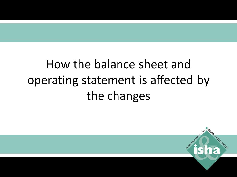 How the balance sheet and operating statement is affected by the changes