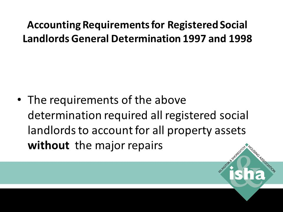 Accounting Requirements for Registered Social Landlords General Determination 1997 and 1998
