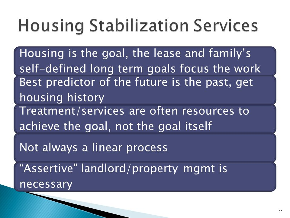 Housing Stabilization Services