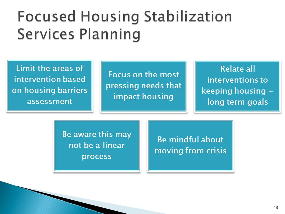 Focused Housing Stabilization Services Planning