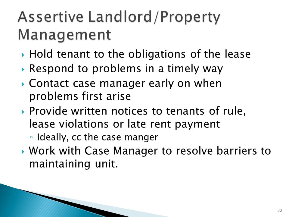 Assertive Landlord/Property Management