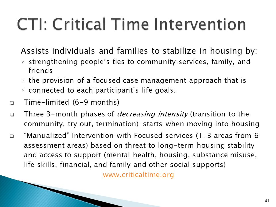 CTI: Critical Time Intervention