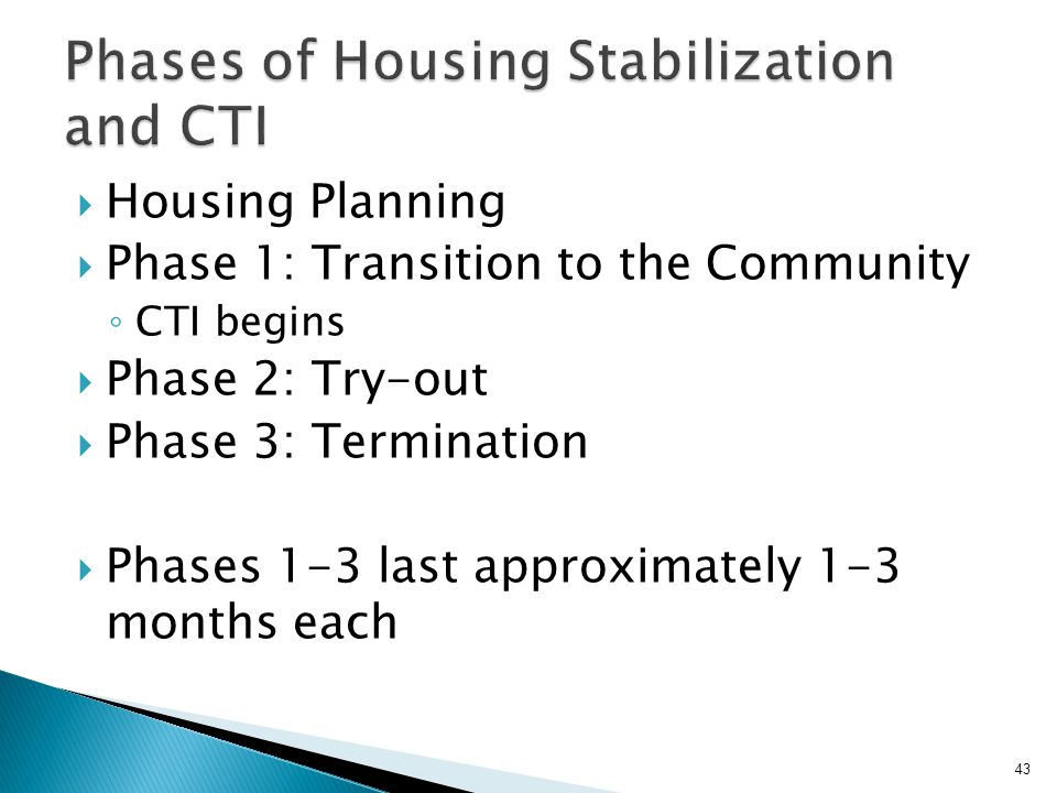 Phases of Housing Stabilization and CTI