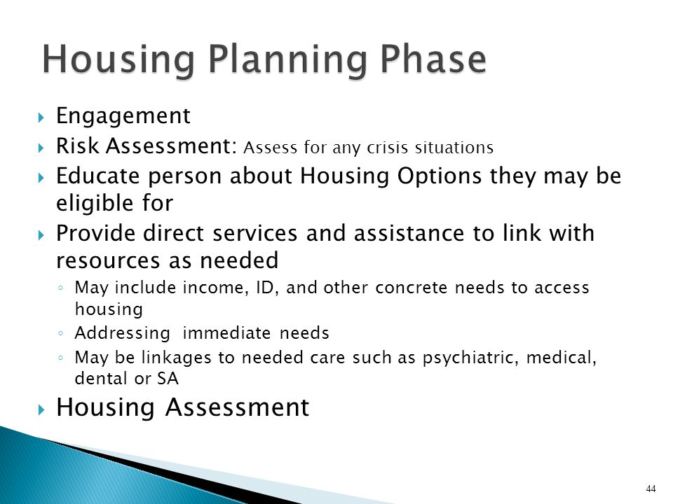 Housing Planning Phase