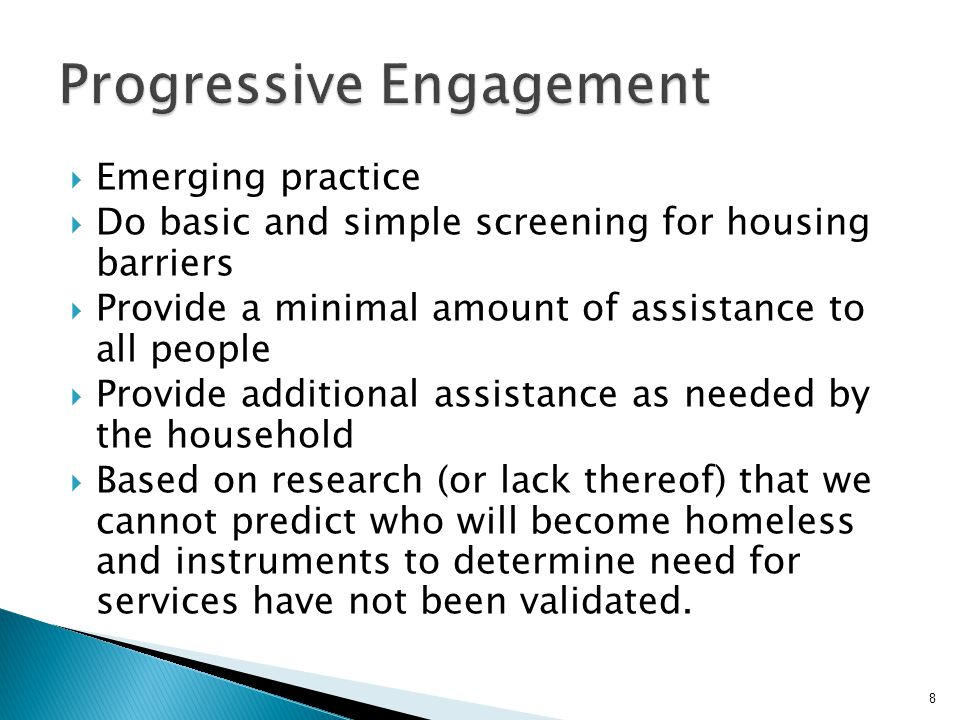 Progressive Engagement
