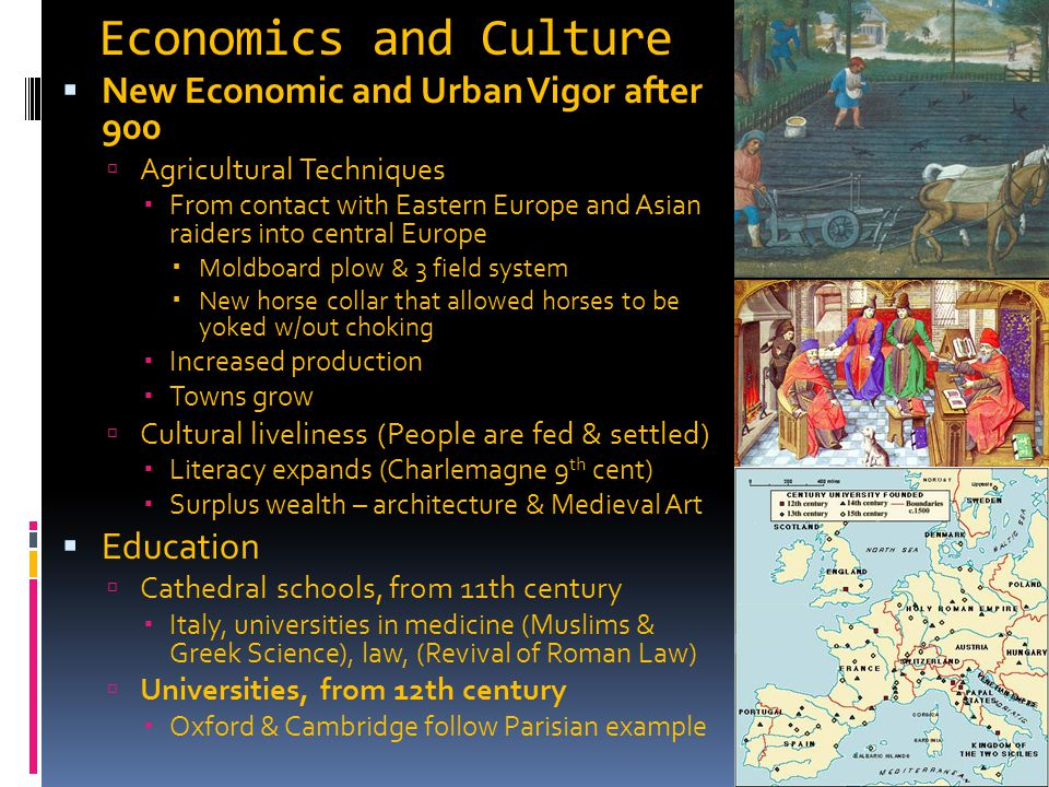 Economics and Culture New Economic and Urban Vigor after 900 Education