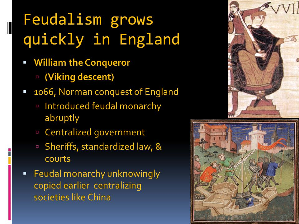 Feudalism grows quickly in England