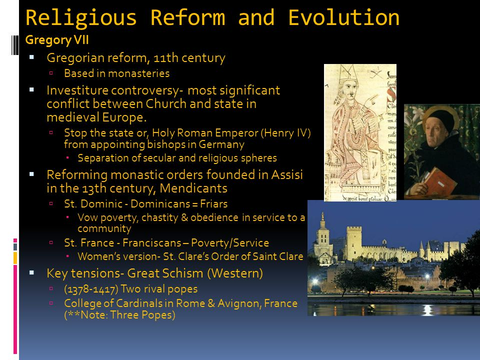 Religious Reform and Evolution