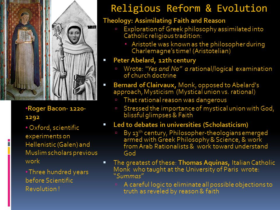 Religious Reform & Evolution