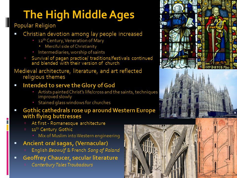 The High Middle Ages Popular Religion
