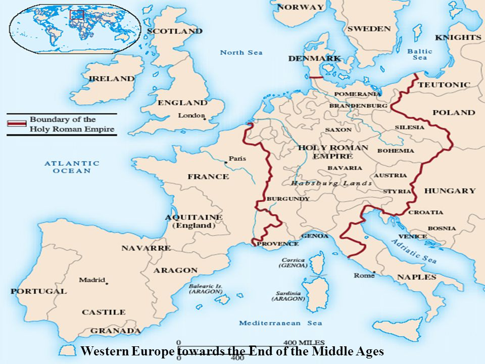 Western Europe towards the End of the Middle Ages