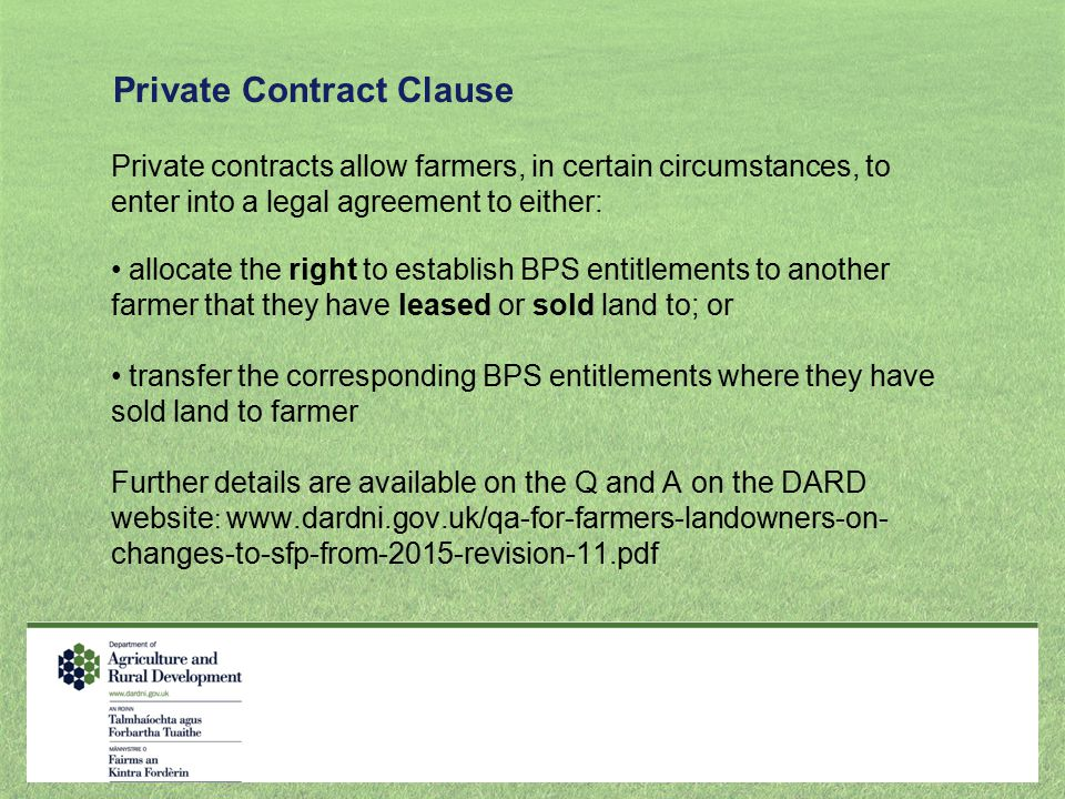 Private Contract Clause