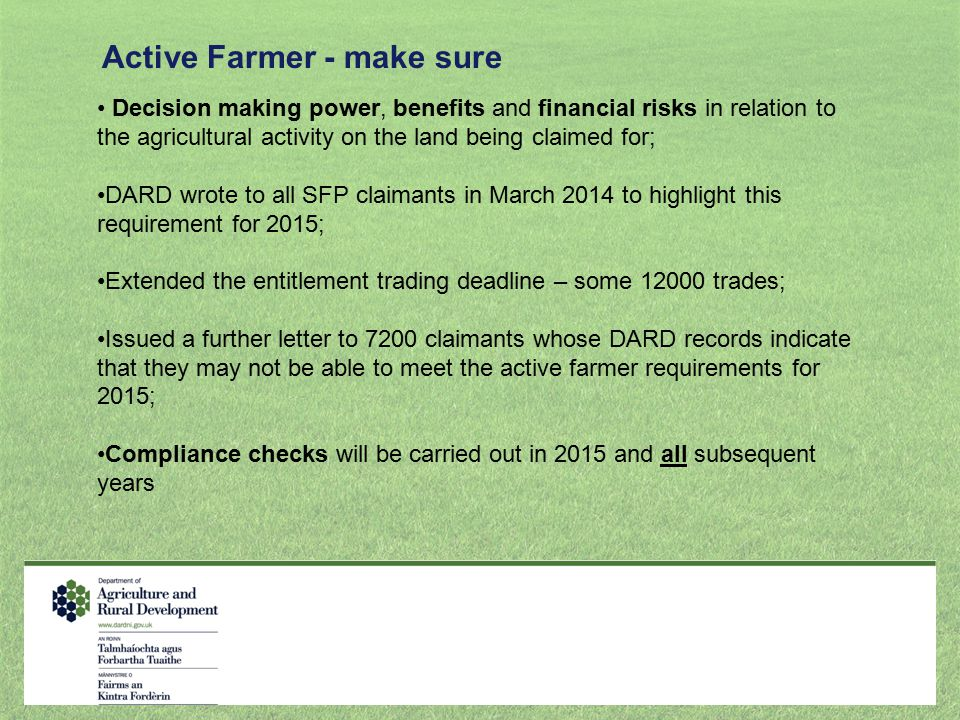 Active Farmer - make sure