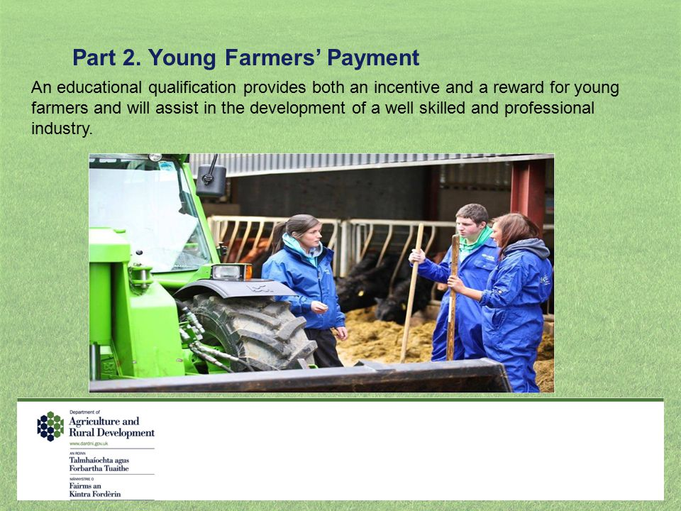 Part 2. Young Farmers' Payment