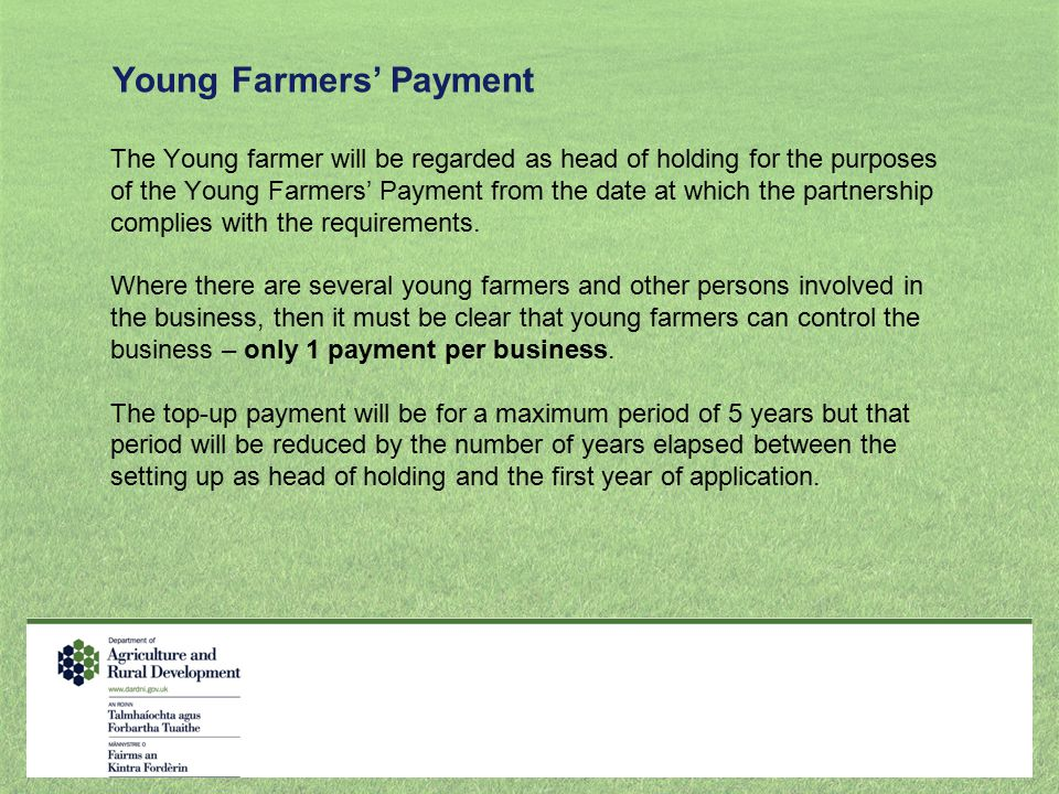 Young Farmers' Payment