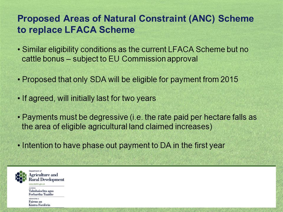 Proposed Areas of Natural Constraint (ANC) Scheme to replace LFACA Scheme