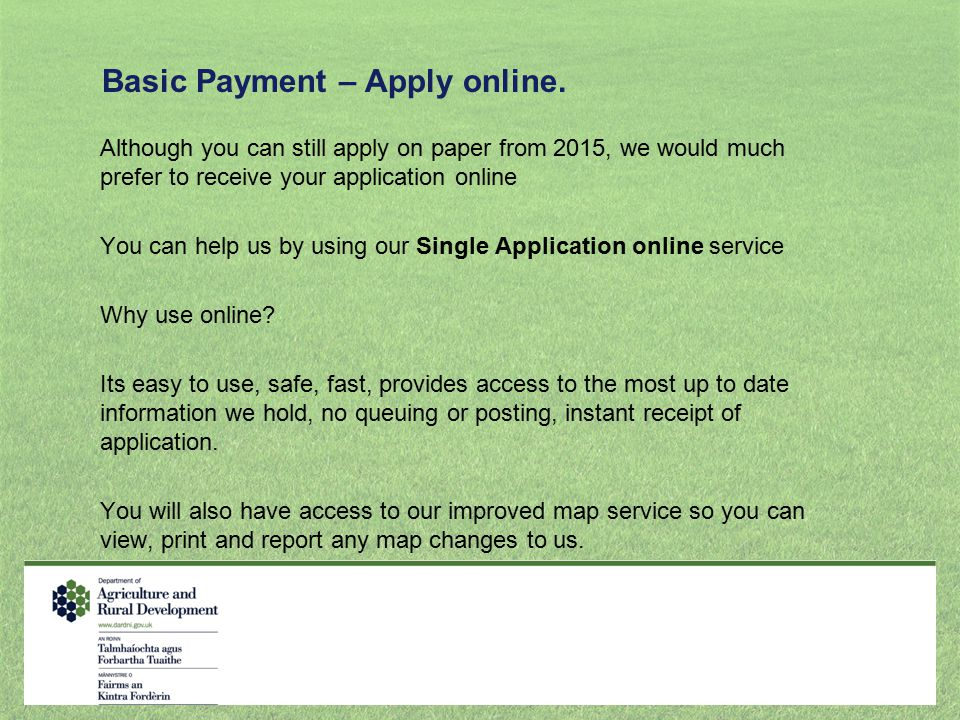 Basic Payment – Apply online.