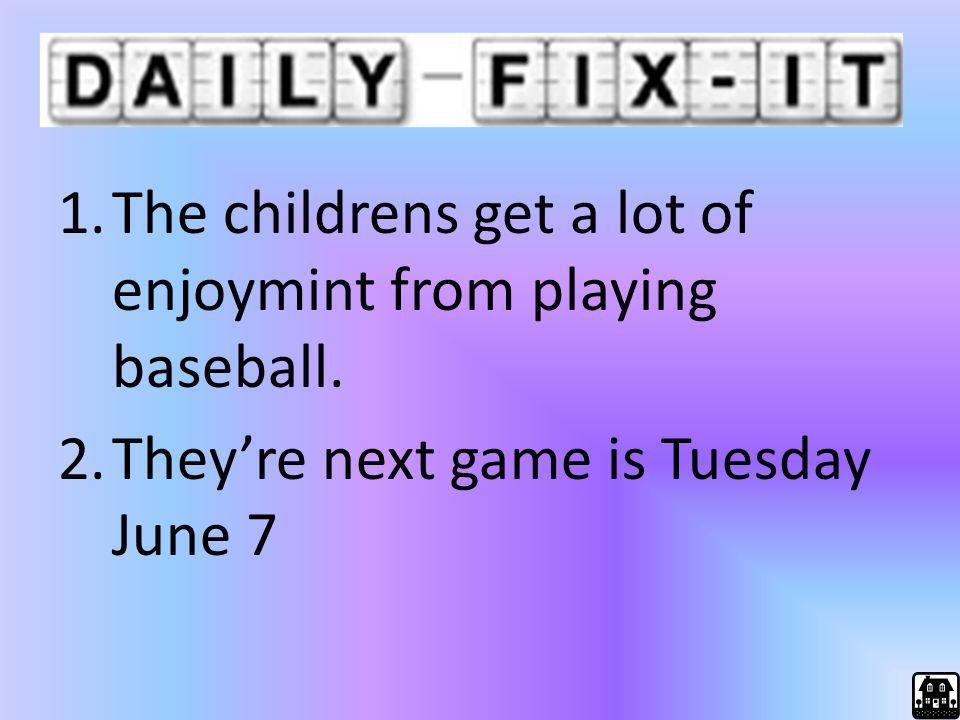 The childrens get a lot of enjoymint from playing baseball.