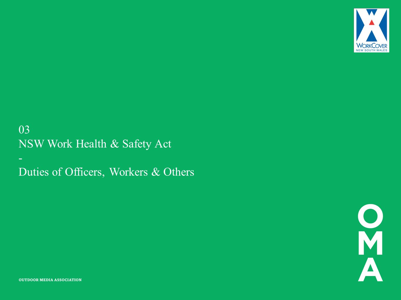 NSW Work Health & Safety Act - Duties of Officers, Workers & Others
