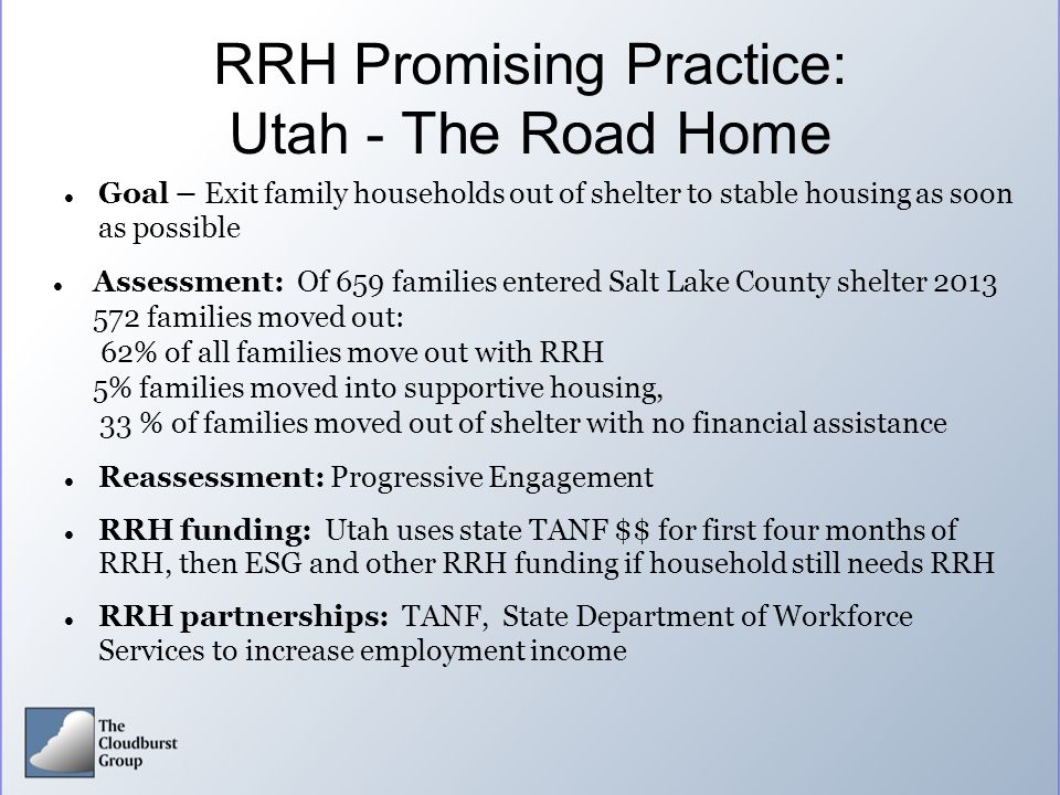 RRH Promising Practice: Utah - The Road Home