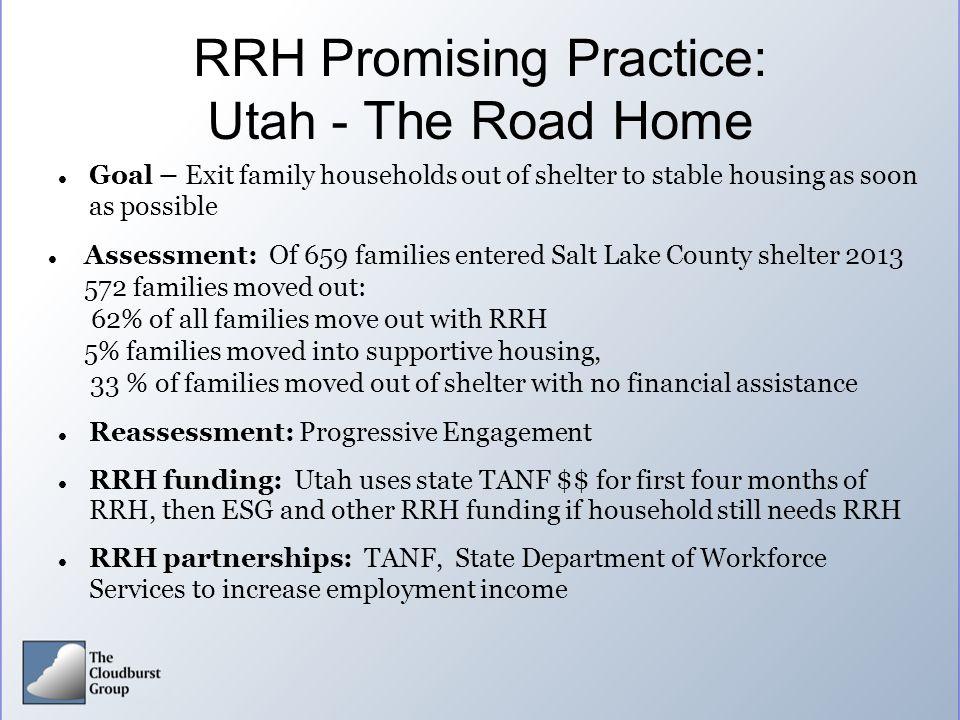 RRH Promising Practice: Utah - The Road Home