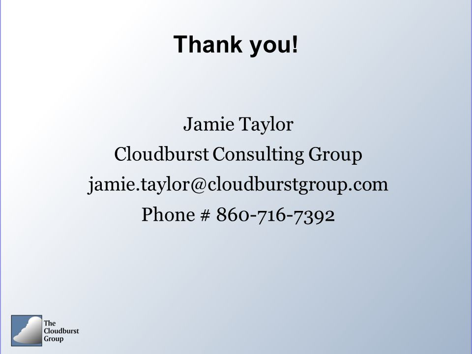 Cloudburst Consulting Group