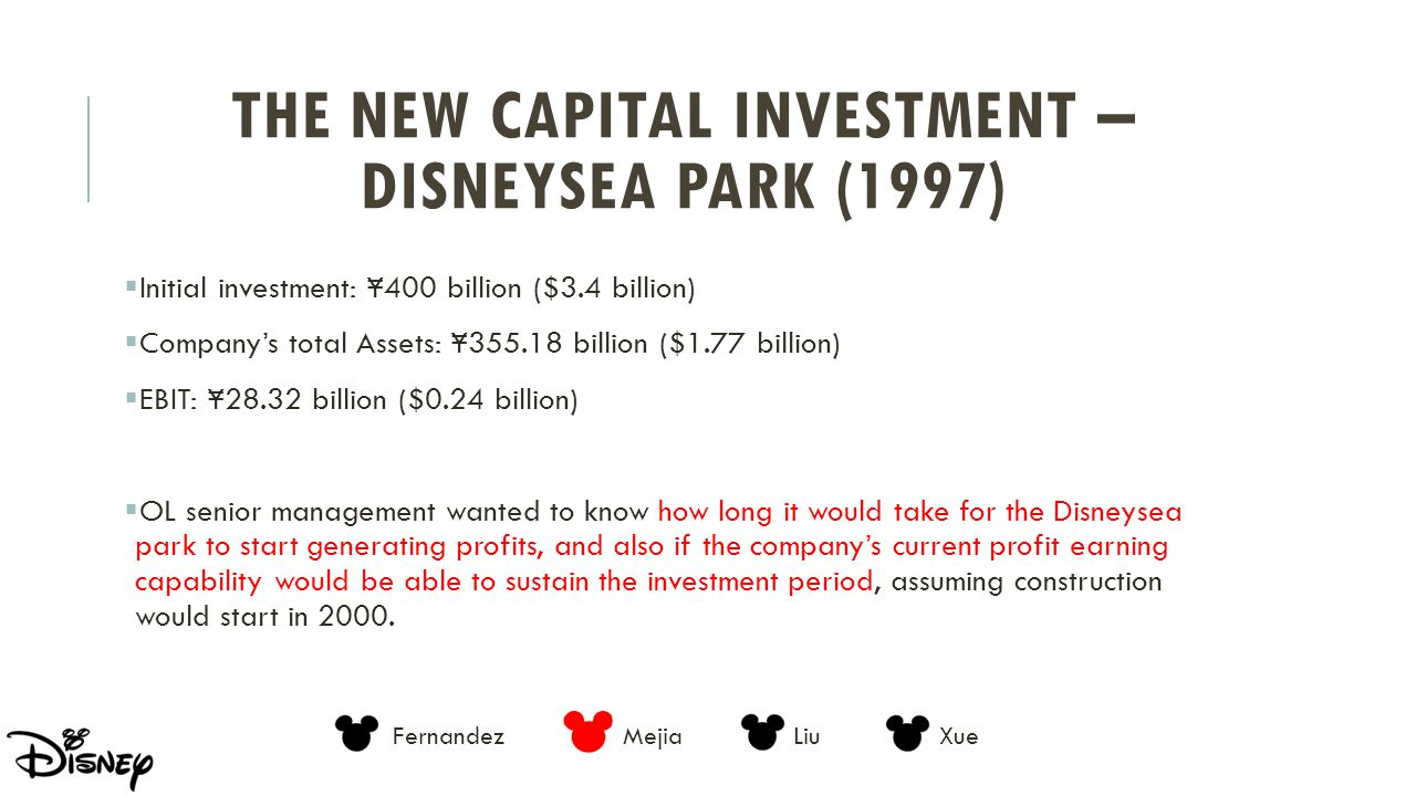 The New Capital Investment – DisneySea Park (1997)