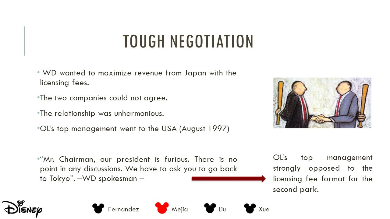 Tough negotiation WD wanted to maximize revenue from Japan with the licensing fees. The two companies could not agree.