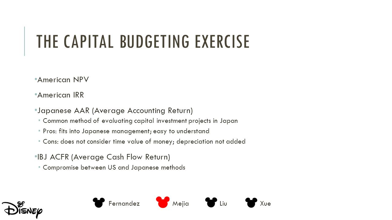 The Capital Budgeting Exercise