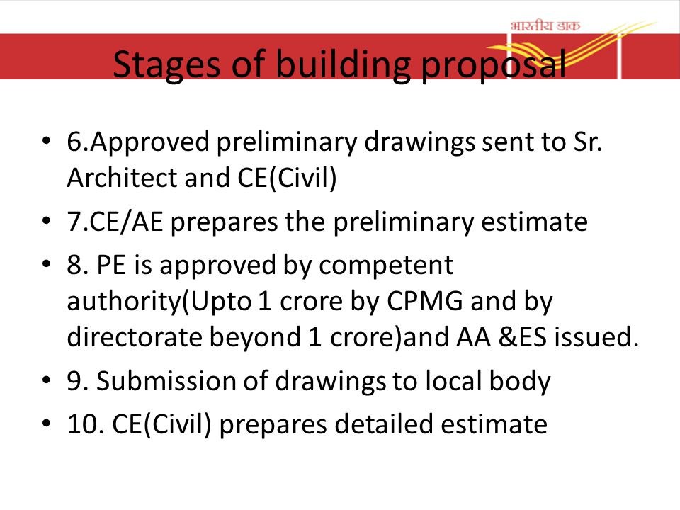 Stages of building proposal