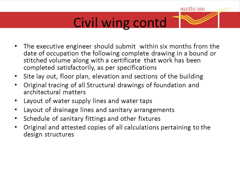 Civil wing contd