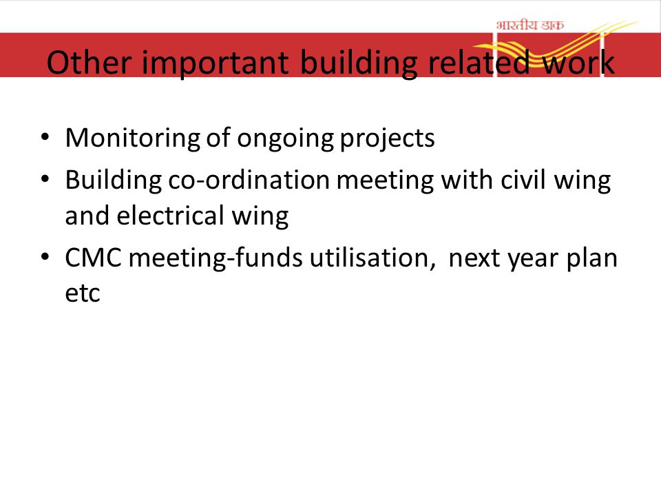 Other important building related work
