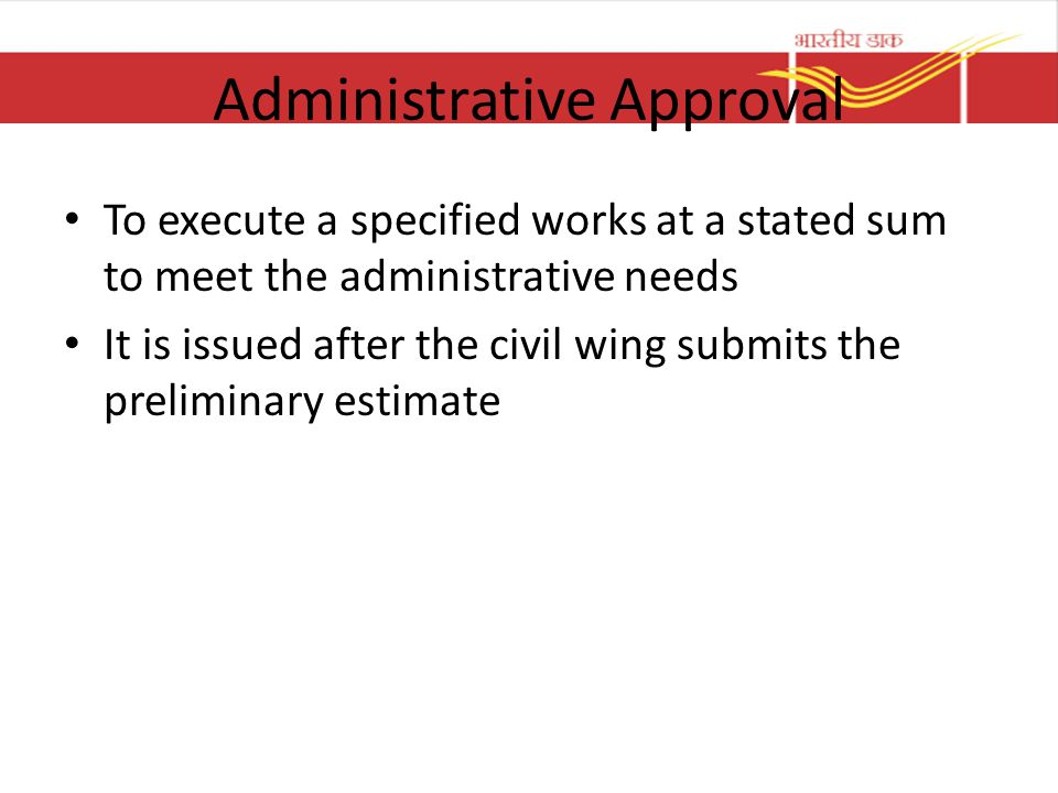 Administrative Approval