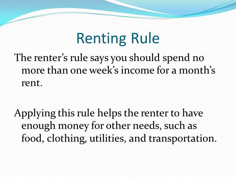 Renting Rule