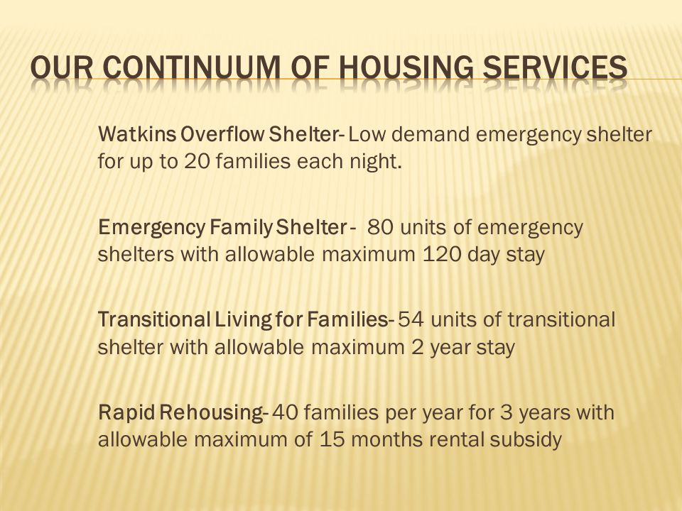 Our Continuum of Housing Services