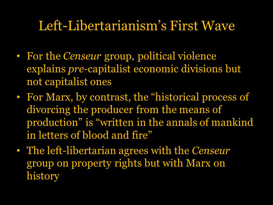 Left-Libertarianism's First Wave