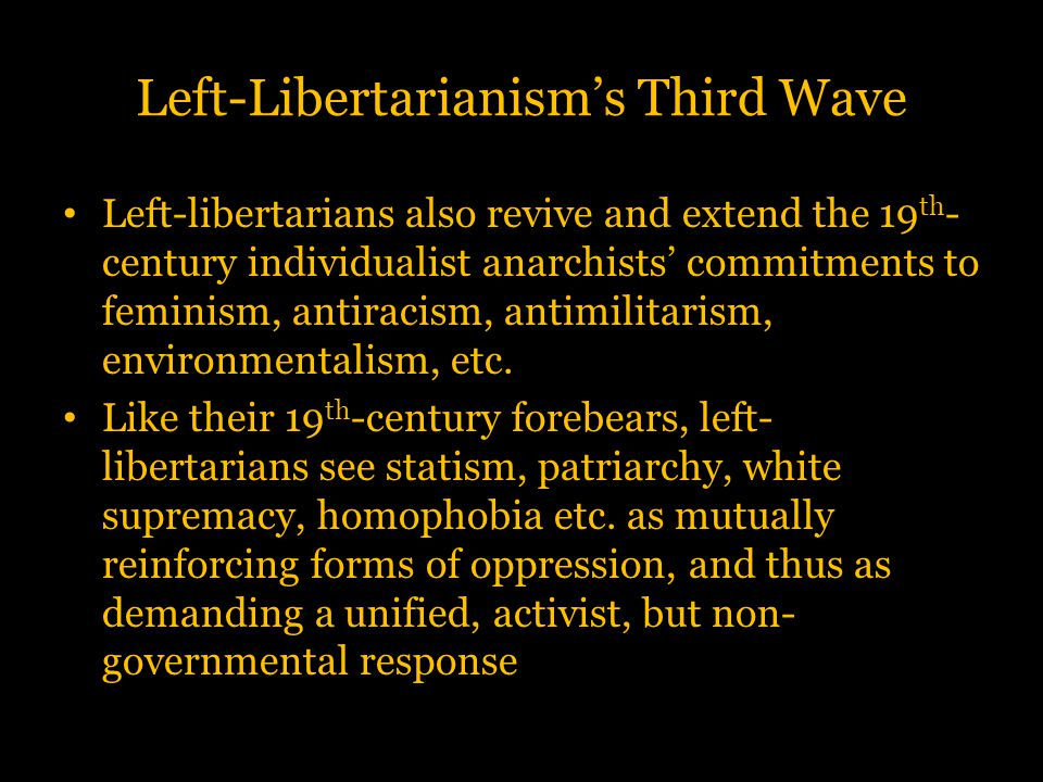 Left-Libertarianism's Third Wave