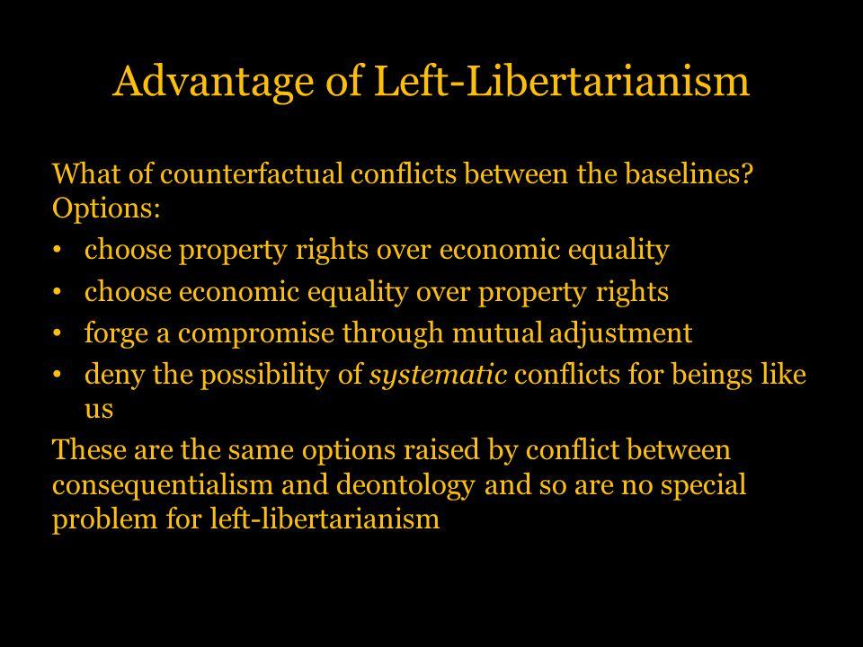 Advantage of Left-Libertarianism