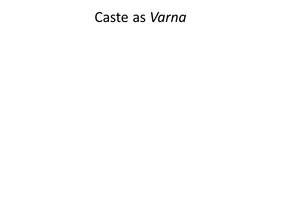 Caste as Varna