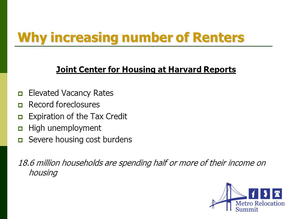 Why increasing number of Renters