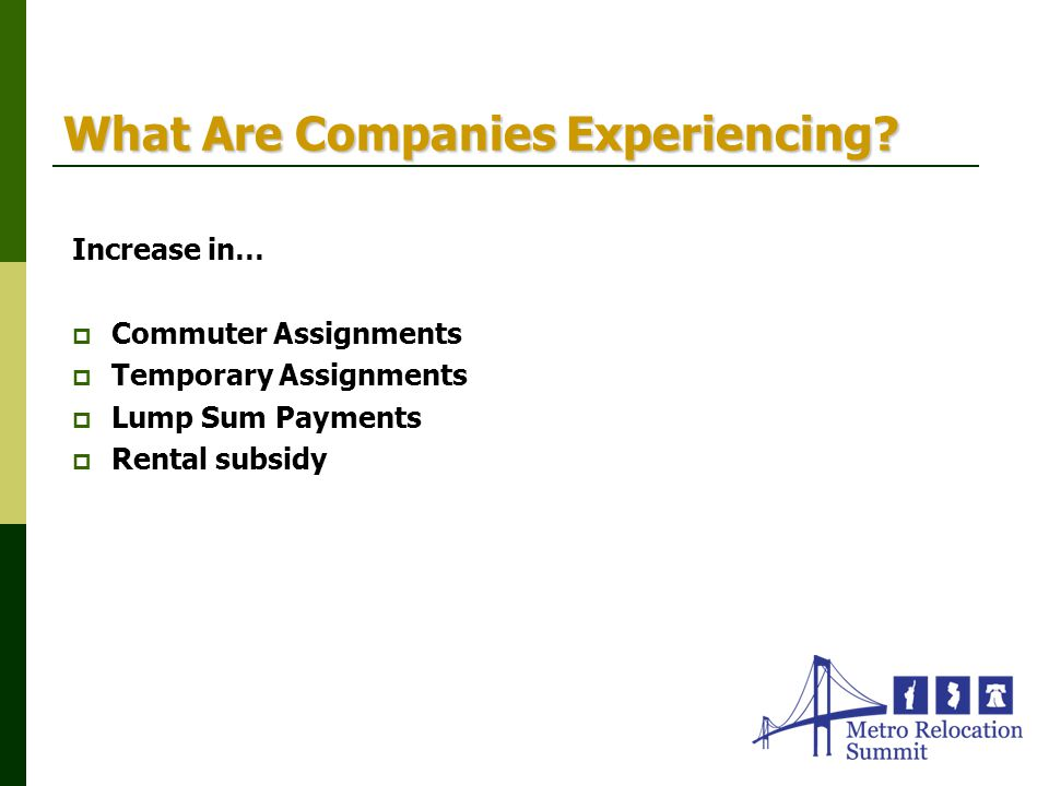 What Are Companies Experiencing