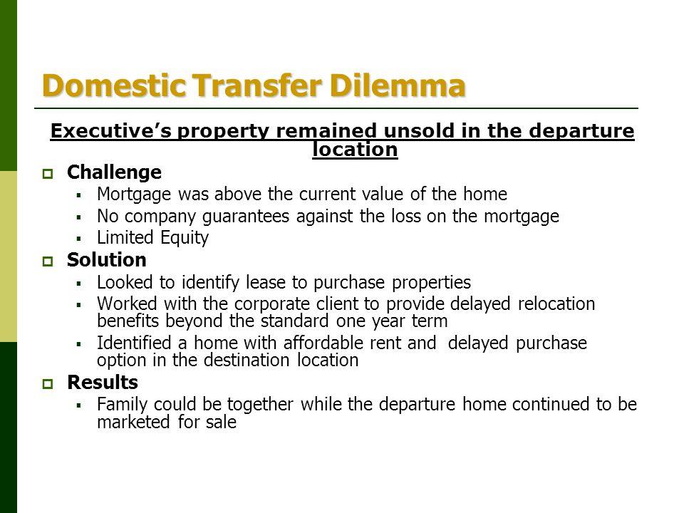 Domestic Transfer Dilemma