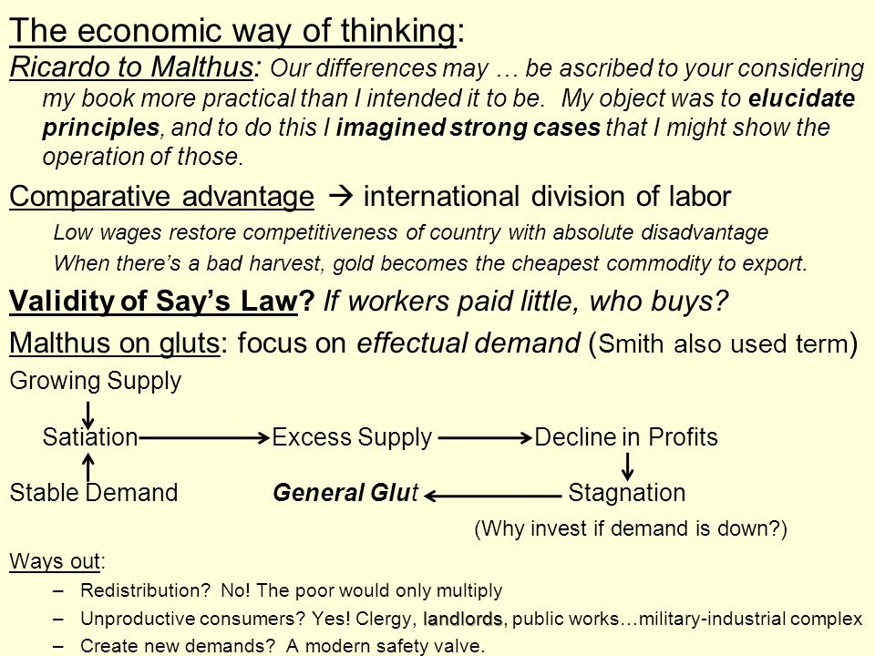 The economic way of thinking: