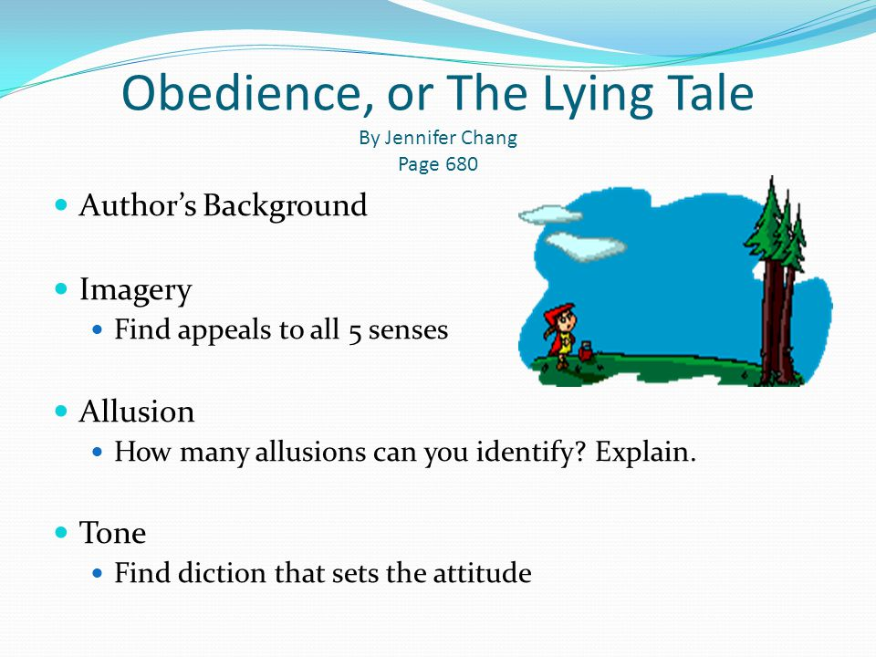 Obedience, or The Lying Tale By Jennifer Chang Page 680